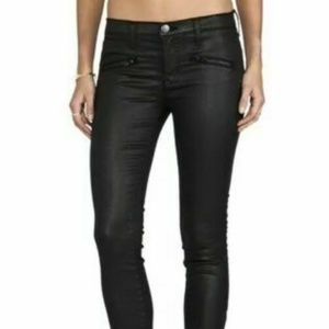 Current Elliot  Soho Zip Skinny Coated Jeans